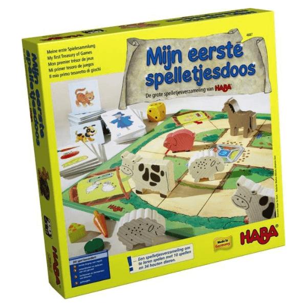 004687 Speelgoedwinkel Daantje haba speelgoed mijn eerste spelletjesdoos