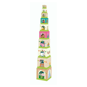 005879 Speelgoedwinkel Daantje haba speelgoed stapelblokken boerderij thema