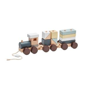 1000140 Speelgoedwinkel Daantje Kids Concept houten trein met blokken