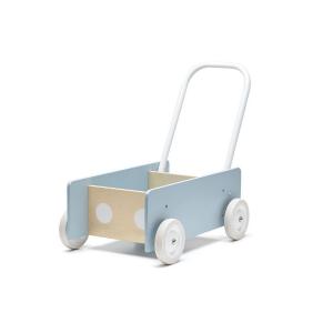 1000279 Speelgoedwinkel Daantje Kids Concept loopwagentje blauw
