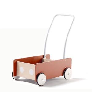 1000280 Speelgoedwinkel Daantje Kids Concept houten loopwagen abrikoos