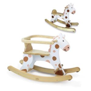 1107 Speelgoedwinkel Daantje Vilac houten schommelpaard met afneembare veiligheidssteun
