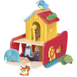 2429 Speelgoedwinkel Daantje Vilac dieren ark vormen sorteren vormenstoof