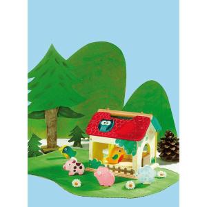 2475S Speelgoedwinkel Daantje Vilac houten vormenstoof boerderij impressie