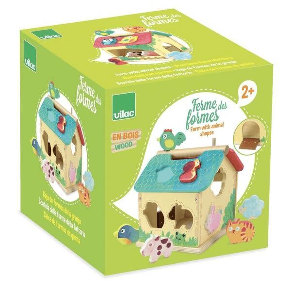 2475S Speelgoedwinkel Daantje Vilac houten vormenstoof boerderij verpakking