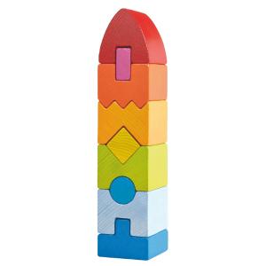 301690 Speelgoedwinkel Daantje haba speelgoed stapelblokken regenboogtoren