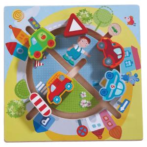 301704 Speelgoedwinkel Daantje haba speelgoed motoriekbord autowereld
