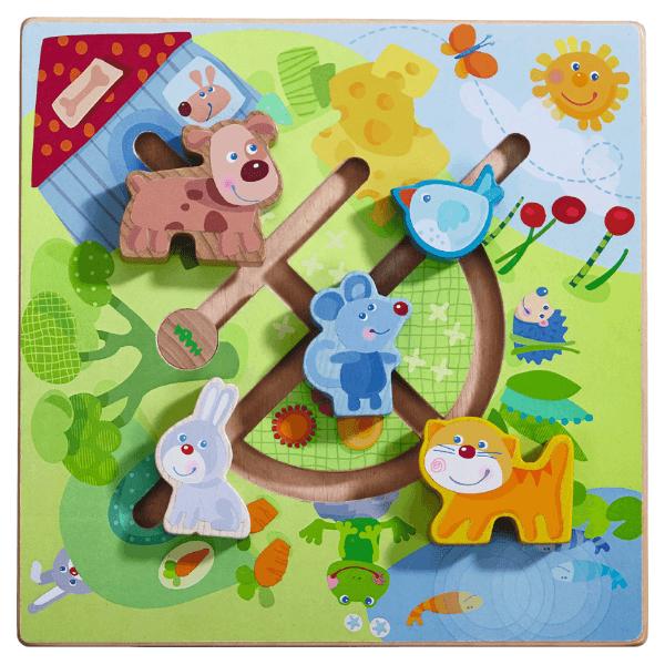 302211 Speelgoedwinkel Daantje haba speelgoed motoriekbord dierenwereld