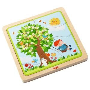302529 Speelgoedwinkel Daantje haba speelgoed houten puzzel vier seizoenen