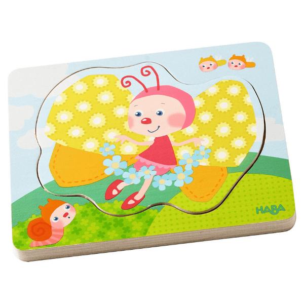 302533 Speelgoedwinkel Daantje haba speelgoed houten puzzel vlindermagie