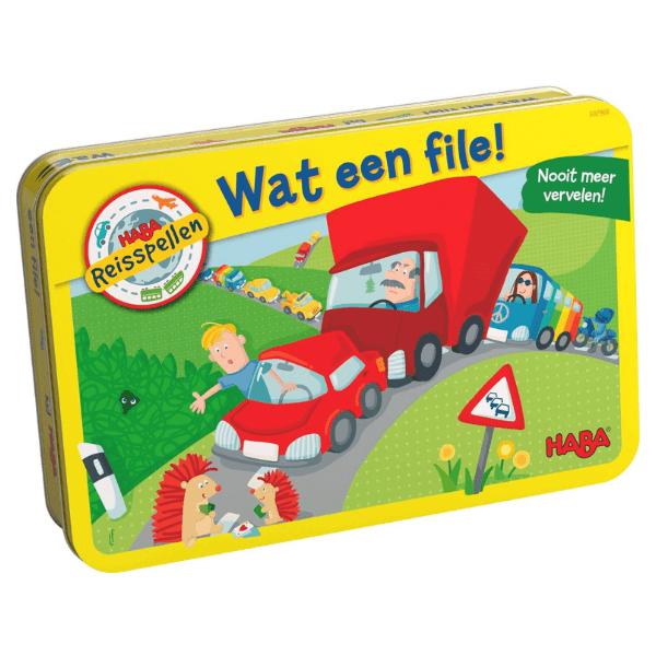 302968 Speelgoedwinkel Daantje haba speelgoed voor onderweg wat een file