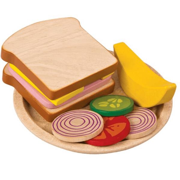 3464 Speelgoedwinkel Daantje Plan Toys houten sandwich