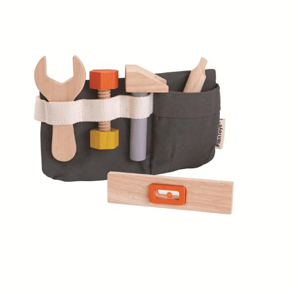 3485 Speelgoedwinkel Daantje houten toolbelt Plan Toys