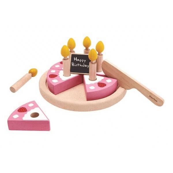 3488 Speelgoedwinkel Daantje Plan Toys houten verjaardagstaart