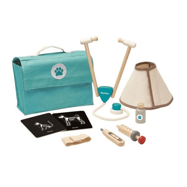 3490 Speelgoedwinkel Daantje Plan Toys dierenarts set compleet