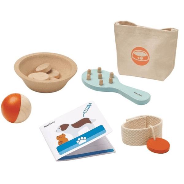 3491 Speelgoedwinkel Daantje Plan Toys huisdier verzorgingsset details