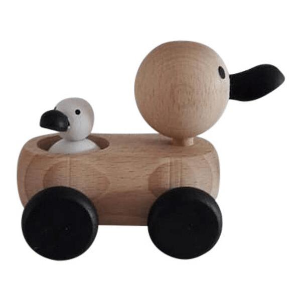 4 Speelgoedwinkel Daantje houten eend zijkant