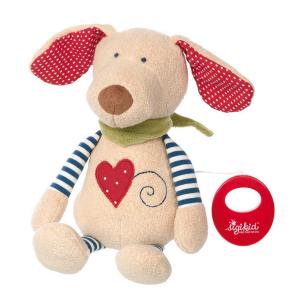 40844 Speelgoedwinkel Daantje Sigikid knuffel hond met muziekdoosje