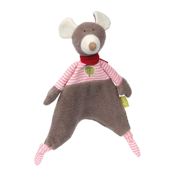 41781 Speelgoedwinkel Daantje Sigikid knuffeldoek muis bruin gestreept