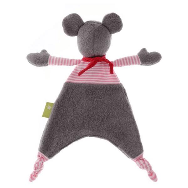 41781 Speelgoedwinkel Daantje Sigikid knuffeldoek muis bruin gestreept achterkant