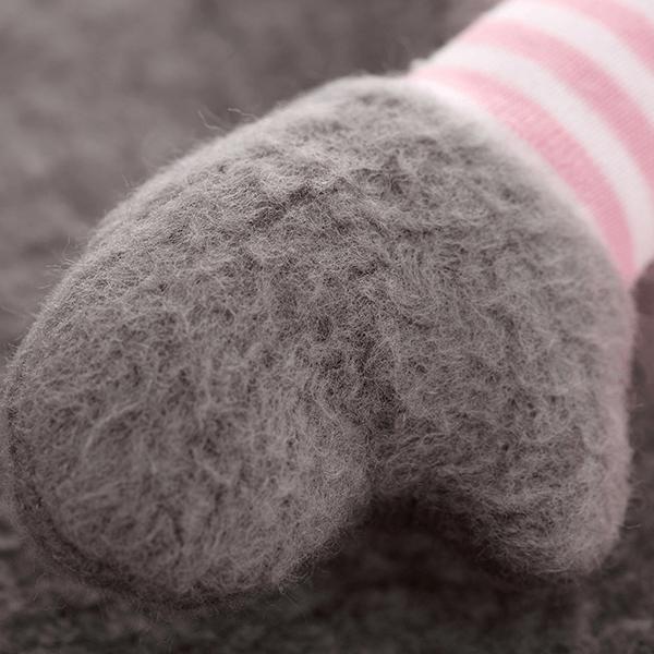 41781 Speelgoedwinkel Daantje Sigikid knuffeldoek muis bruin gestreept detail