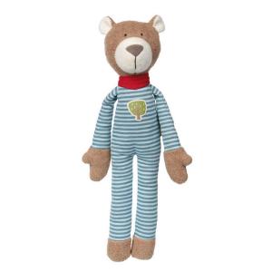 41785 Speelgoedwinkel Daantje Sigikid knuffel beer blauw gestreept