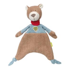 41786 Speelgoedwinkel Daantje Sigikid knuffeldoek beer bruin blauw gestreept
