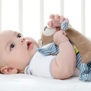 41804 Speelgoedwinkel Daantje baby met knuffeldoek beer