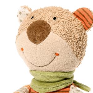 48916 Speelgoedwinkel Daantje Sigikid knuffelbeer met muziekdoosje detail hoofd