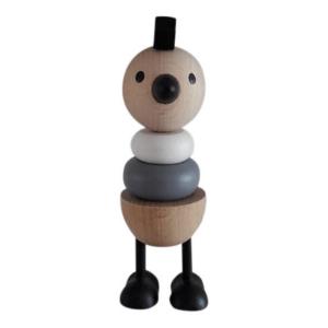 5 Speelgoedwinkel Daantje houten stapelkip monochrome