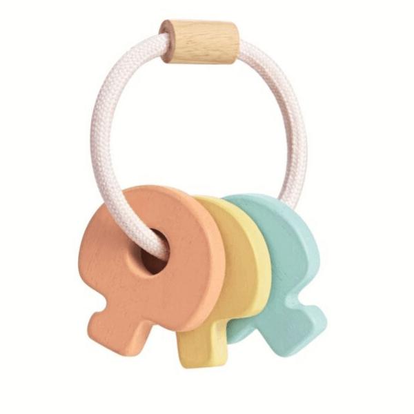 5251 Speelgoedwinkel Daantje Plan Toys baby speelgoed houten sleutels achterkant