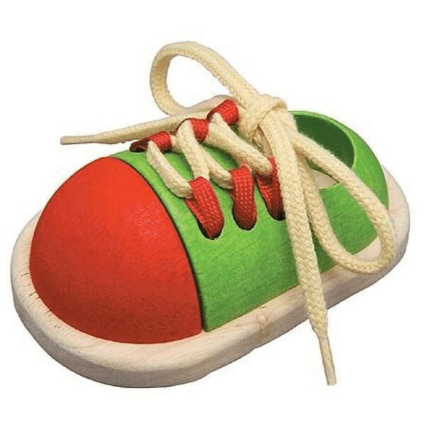 5319 Speelgoedwinkel Daantje Plan Toys leer veters strikken