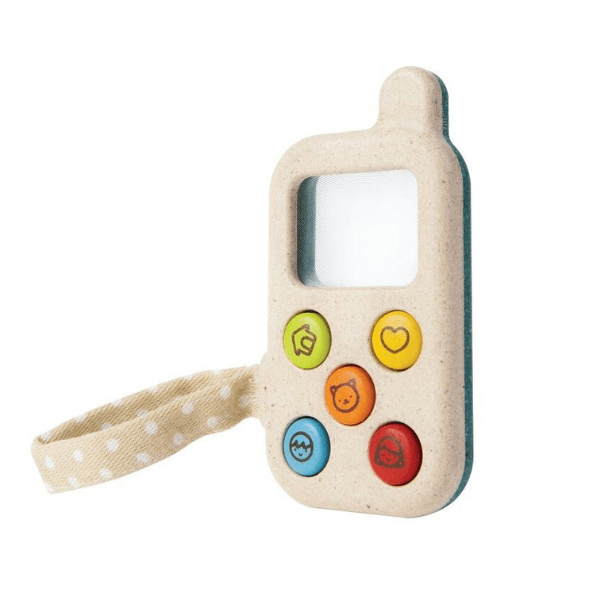 5674 Speelgoedwinkel Daantje Plan Toys houten eerste telefoon