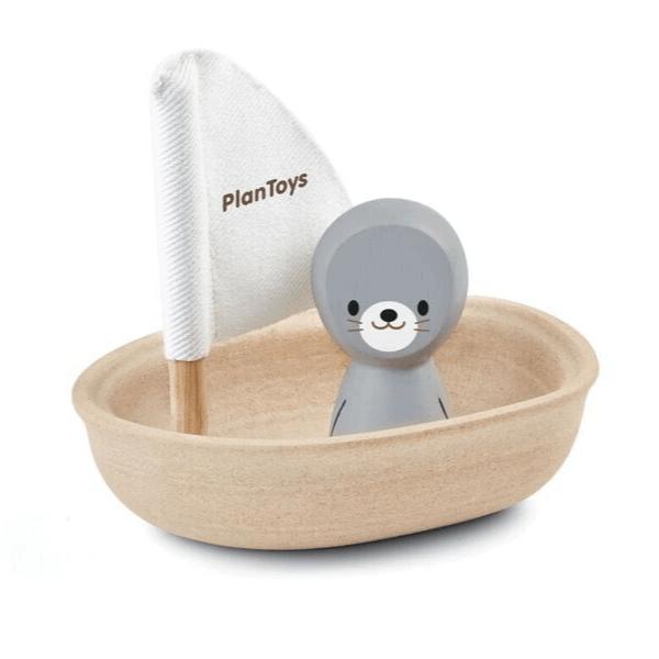 5710 Speelgoedwinkel Daantje Plan Toys bad speelgoed bootje met zeehond