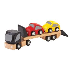 6043 Speelgoedwinkel Daantje Plan Toys transport met houten autootjes
