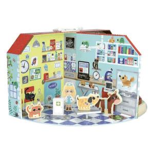 6315 Speelgoedwinkel Daantje dieren ziekenhuis van hout