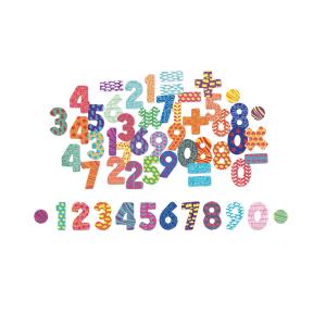 6704 Speelgoedwinkel Daantje set houten magneten cijfers Vilac