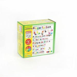 79601 Speelgoedwinkel Daantje oekonorm vier kleuren vingerverf geel groen blauw rood