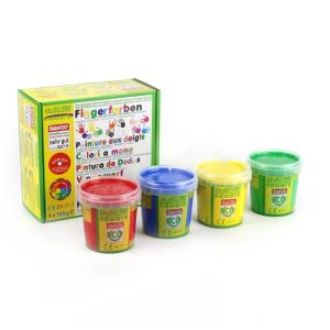 79601 Speelgoedwinkel Daantje oekonorm vingerverf vier kleuren rood blauw geel groen