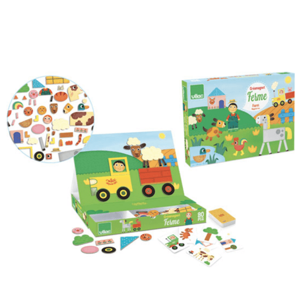 8029 Speelgoedwinkel Daantje Vilac magneetspel boerderij