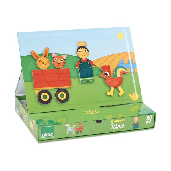 8029 Speelgoedwinkel Daantje Vilac magneetspel boerderij handig voor onderweg