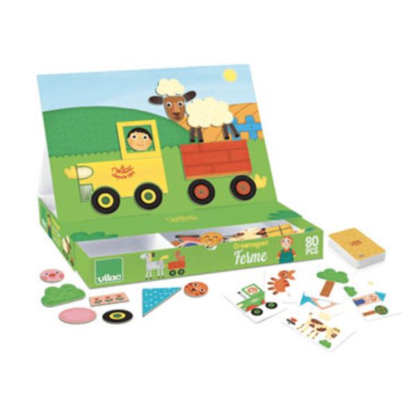 8029 Speelgoedwinkel Daantje boerderij magneetspel Vilac