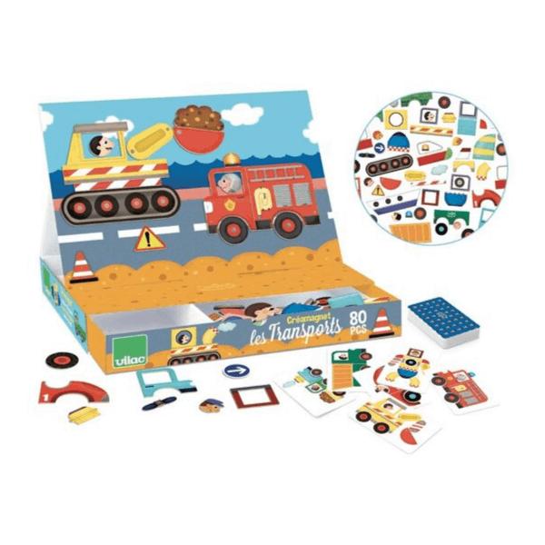 8030 Speelgoedwinkel Daantje Vilac magneetspel transport handig speelgoed voor onderweg