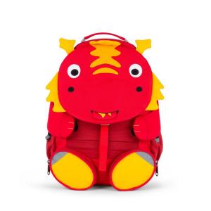 AFZ-FAL-003-011 Speelgoedwinkel Daantje kinderrugzak rood draak 8 liter