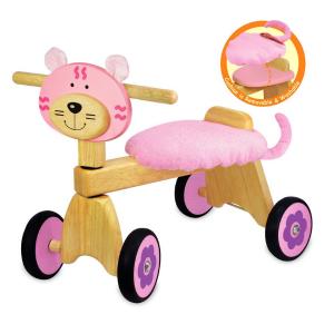 IM87230 Speelgoedwinkel Daantje houten loopfiets poes roze