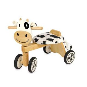 IM87520 Speelgoedwinkel Daantje houten loopfiets koe