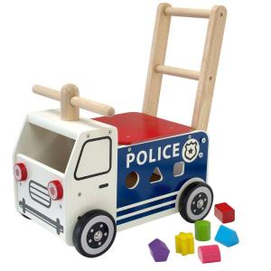 IM87701 Speelgoedwinkel Daantje houten loopwagen politie