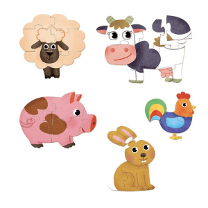 Speelgoedwinkel Daantje Vilac houten puzzel boerderij dieren