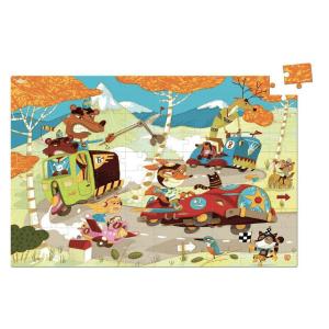 Speelgoedwinkel Daantje Vilac houten puzzel racewagens