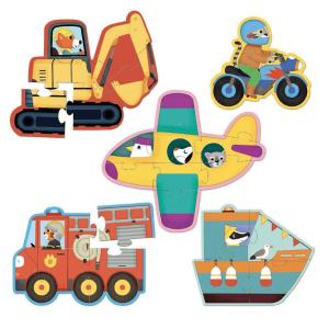 Speelgoedwinkel Daantje Vilac houten puzzel voertuigen